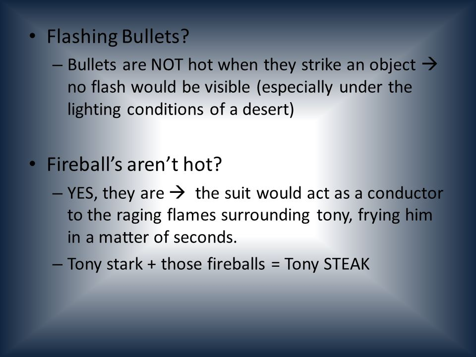 Flashing Bullets.