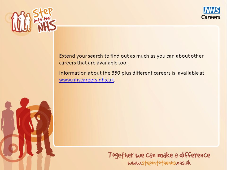 Choose a career Select a career that you find interesting from all the ones you have researched.