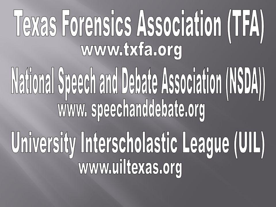 Each member must attend at least 6 TFA tournaments throughout the school year.