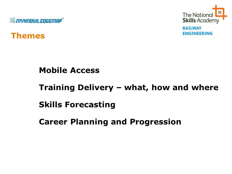 Skills Backbone…a vital tool to support the development of our Future Railway Central Processor National Database Organisations Trainers & Assessors Course Directory Training and Assessment Content and Delivery Access via Web Portal Mobile Access Employee Record CPD / Career Planning Skills Forecasting Supply Demand Accredited Training SkillsID Common Reference Library (Job Roles, Qualifications etc)