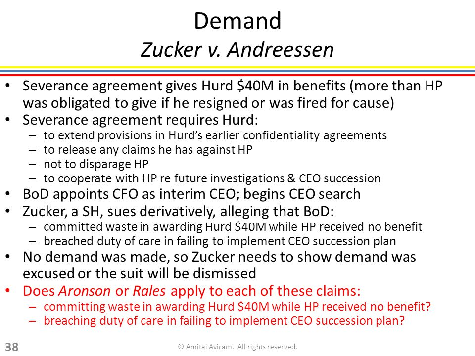 Demand Zucker v.