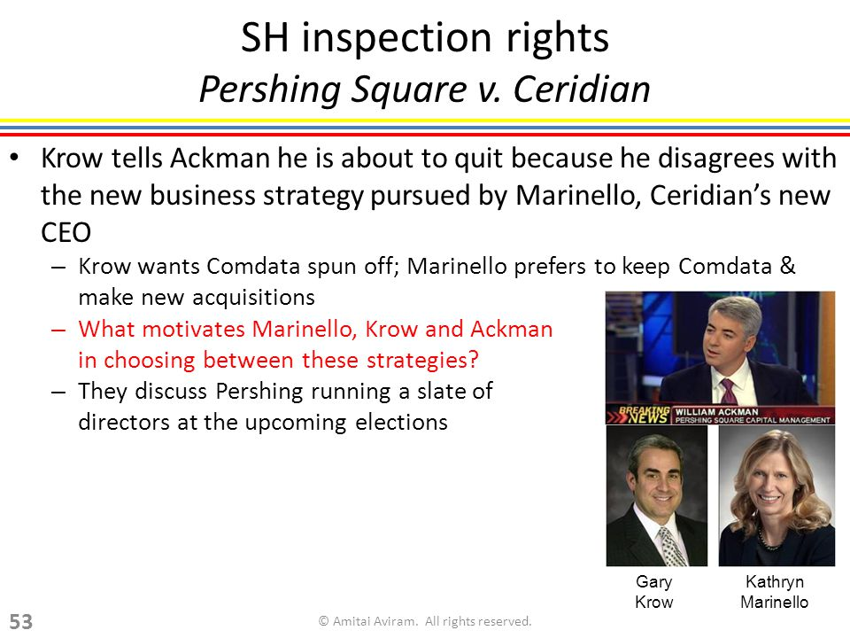 SH inspection rights Pershing Square v.