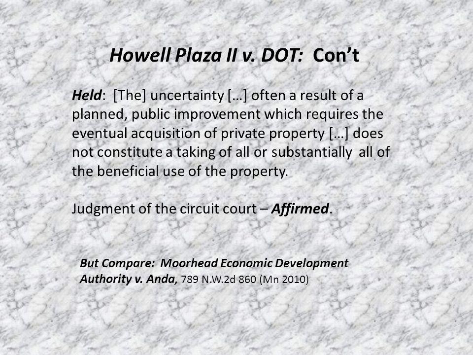 Howell Plaza II v.