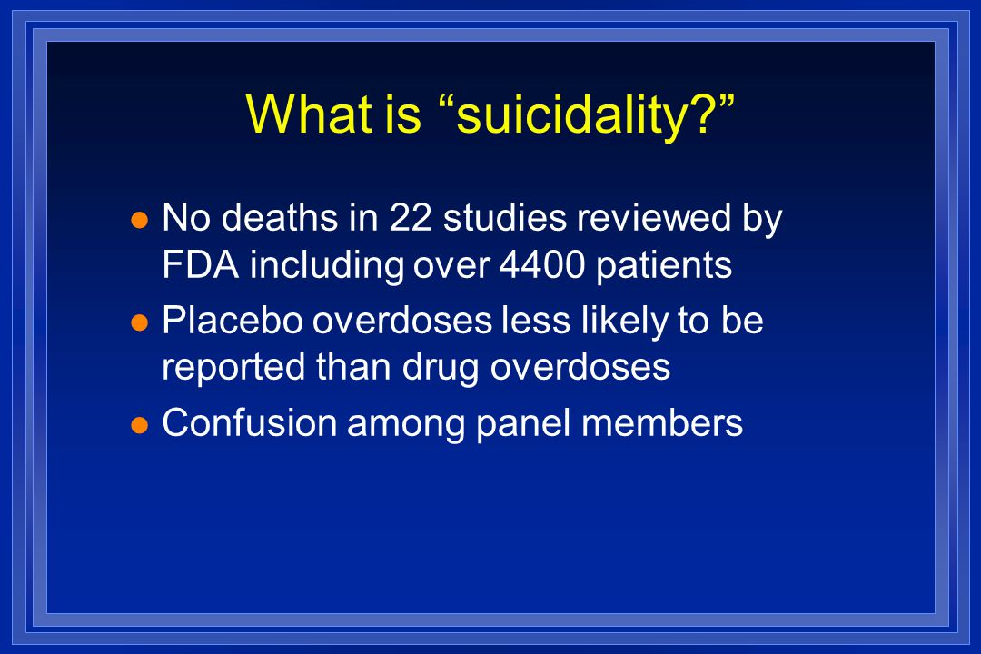 What is suicidality.