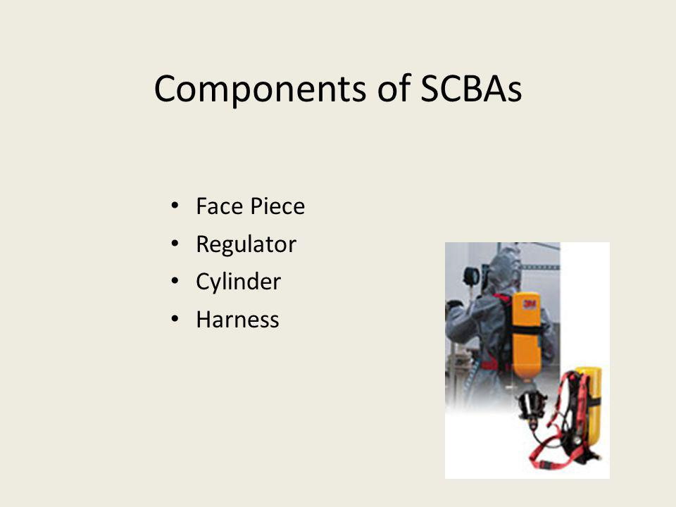 Components of SCBAs Face Piece Regulator Cylinder Harness