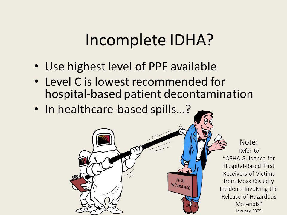 Incomplete IDHA.