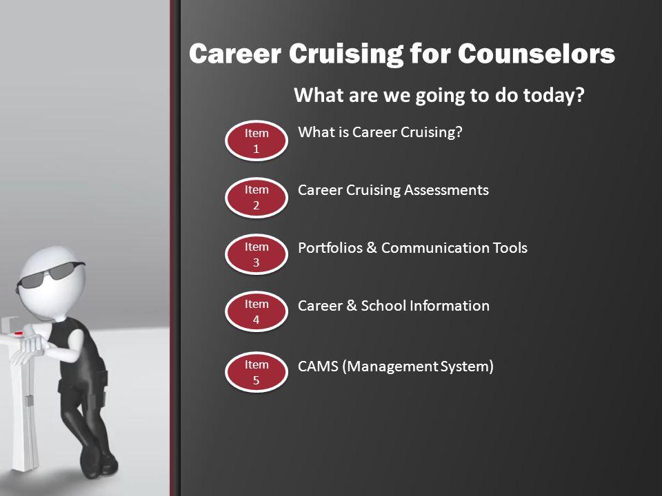 Portfolios & Communication Tools What is Career Cruising.