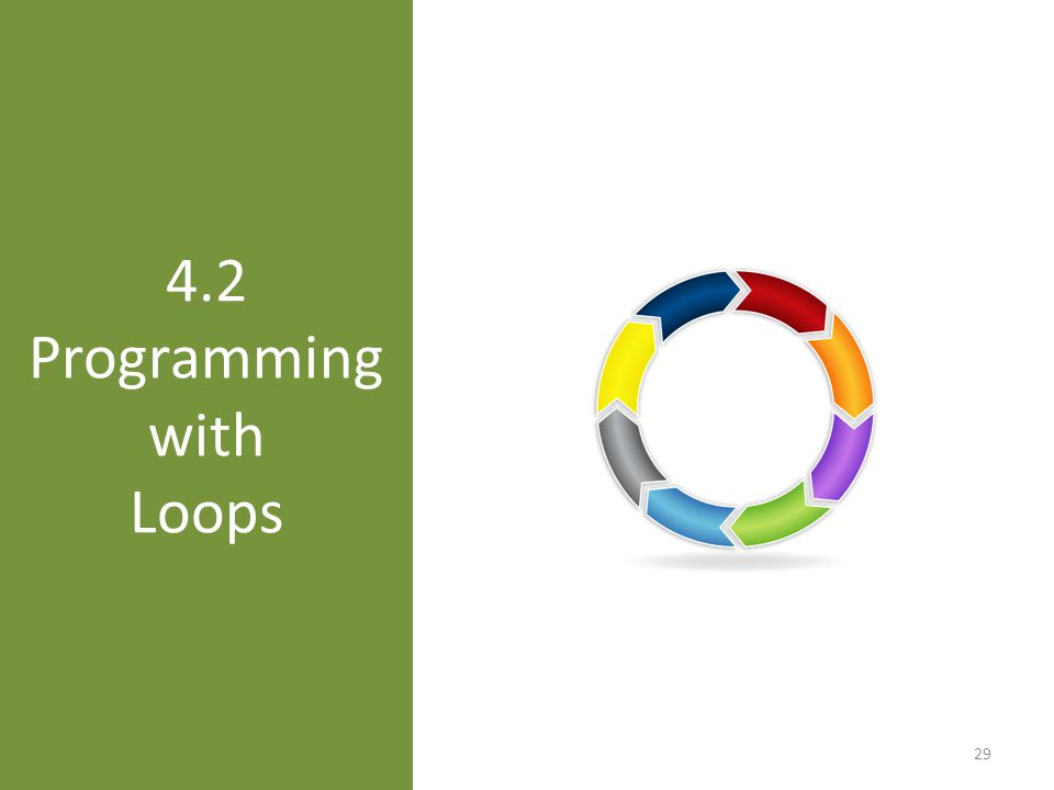 4.2 Programming with Loops 29