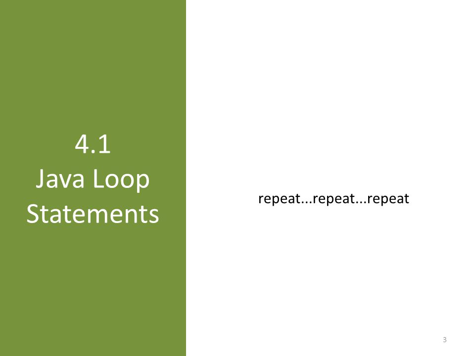 Repetition simplifies coding 4