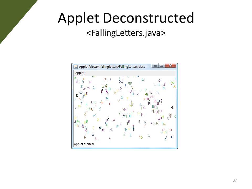 Applet Deconstructed 37