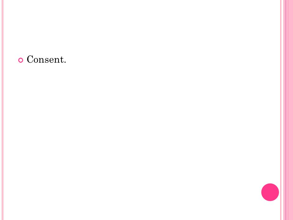 Consent.