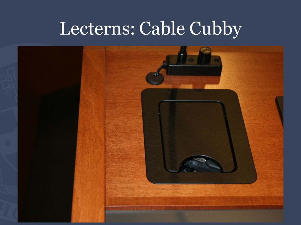 Lecterns: Cable Cubby
