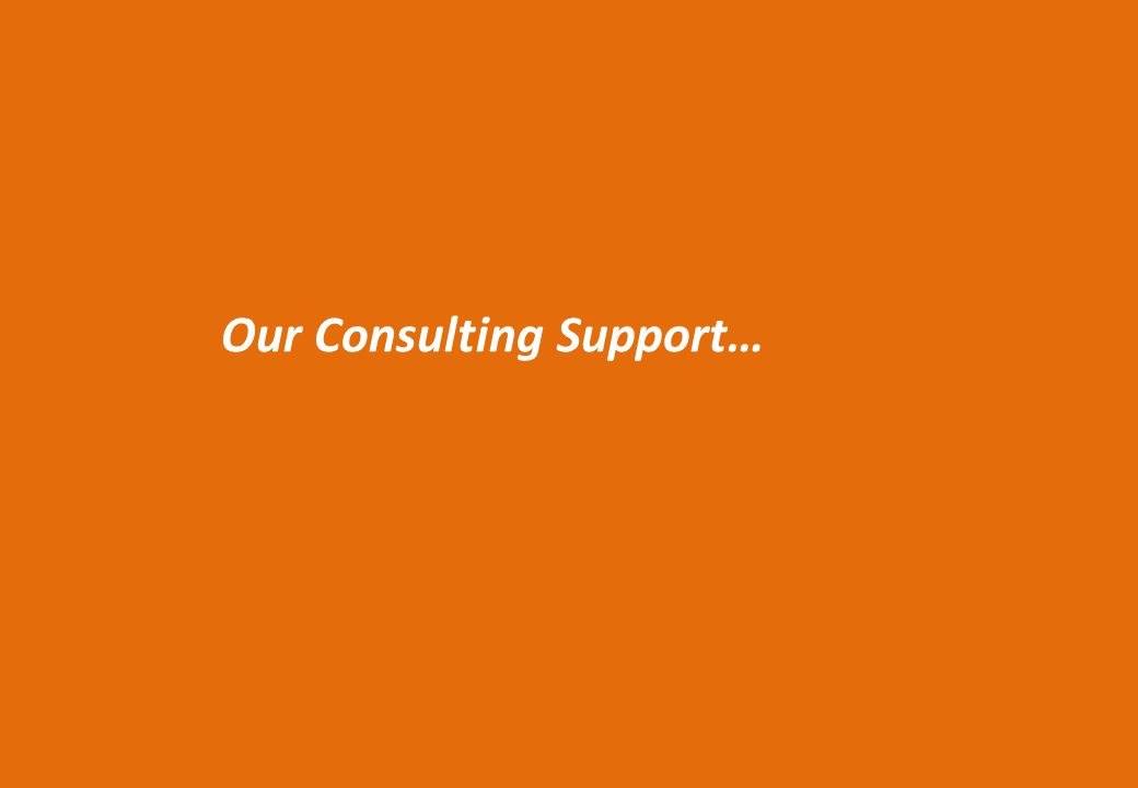 Our Consulting Support…