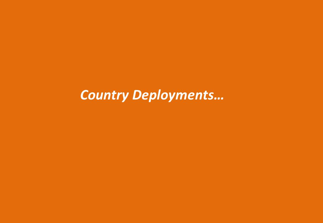 Country Deployments…