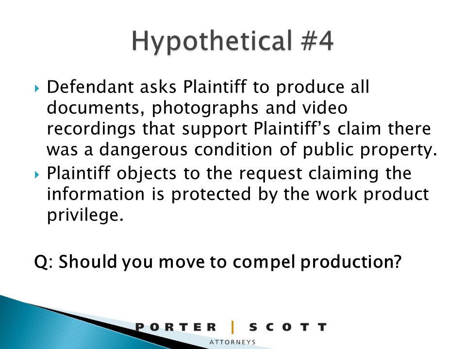 Defendant asks Plaintiff to produce all documents, photographs and video recordings that support Plaintiffs claim there was a dangerous condition of public property.