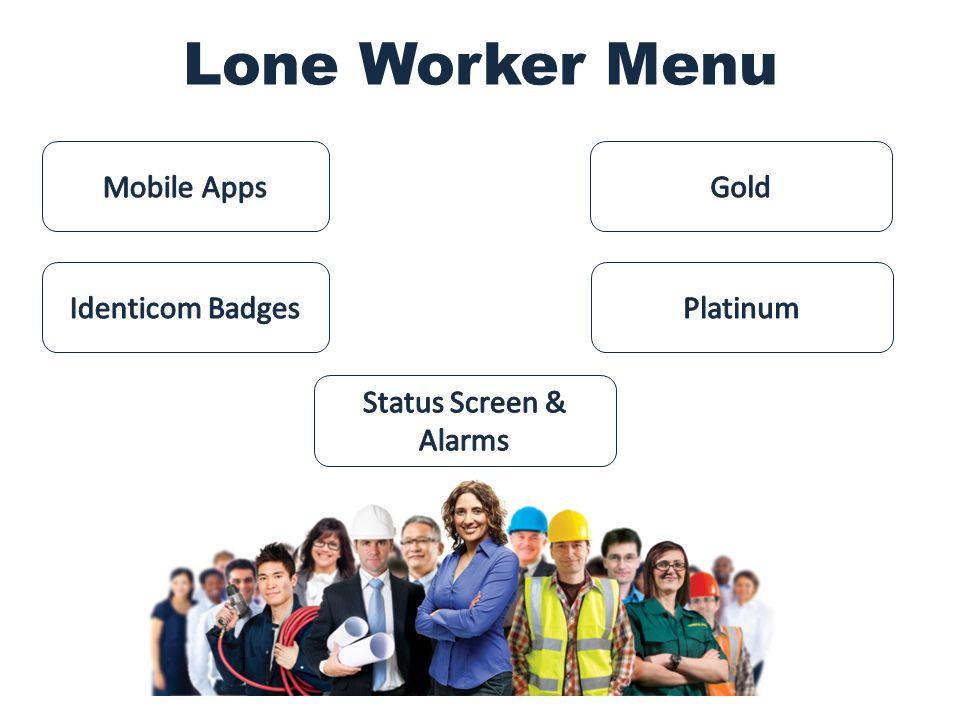 Lone Worker Menu