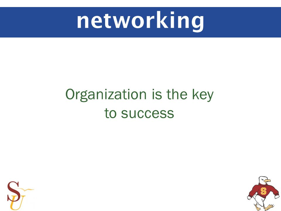 networking Organization is the key to success