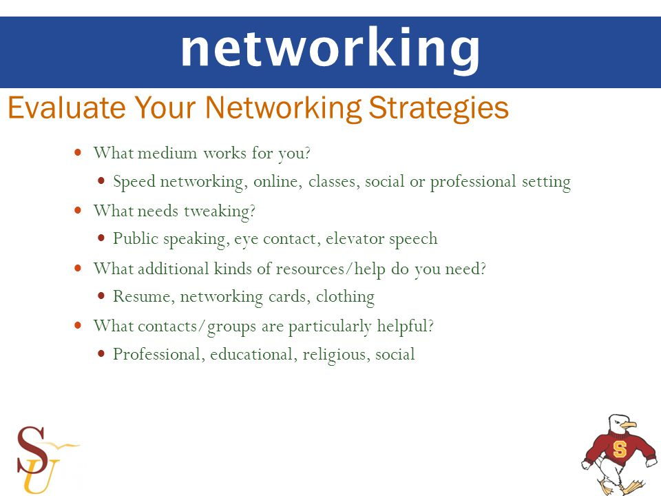 networking What medium works for you.