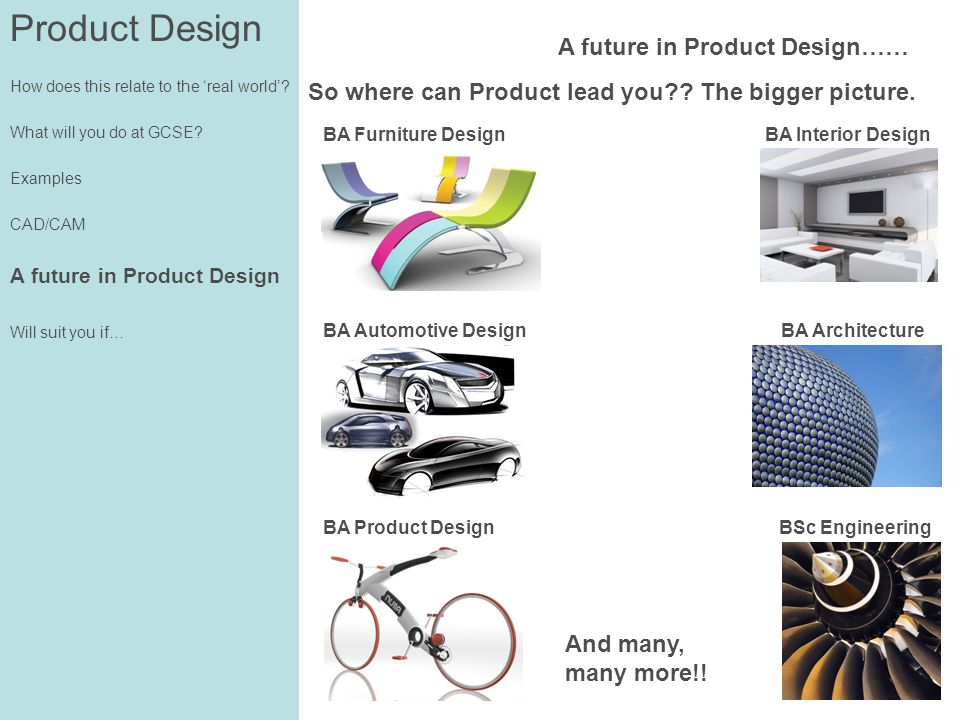 Product Design How does this relate to the real world.