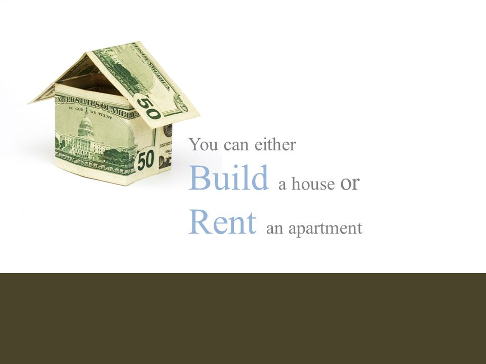 If you build a house, there are a few important decisions you have to make…