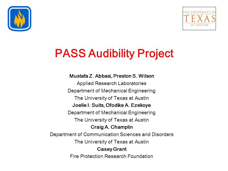 PASS Audibility Project Mustafa Z.Abbasi, Preston S.