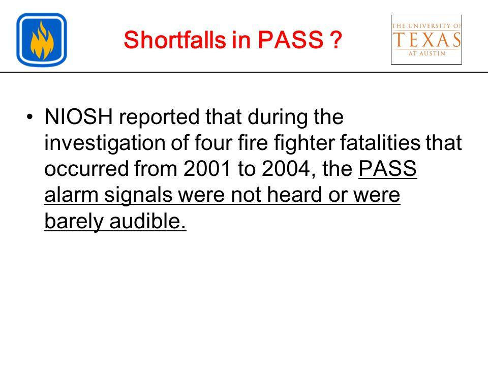 Shortfalls in PASS .