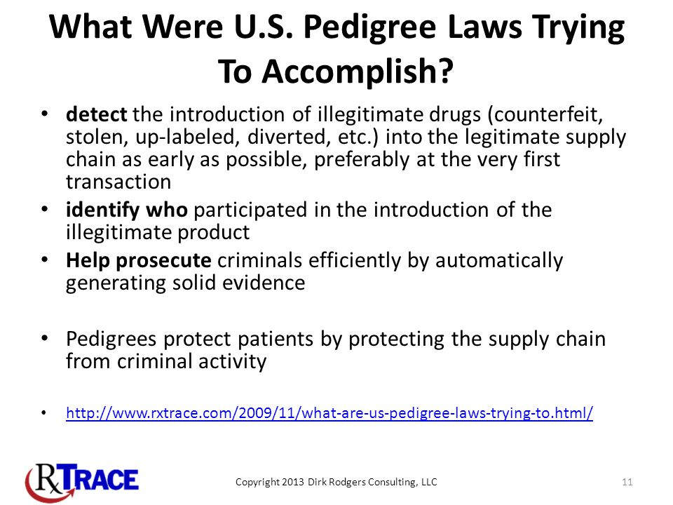 What Were U.S. Pedigree Laws Trying To Accomplish.