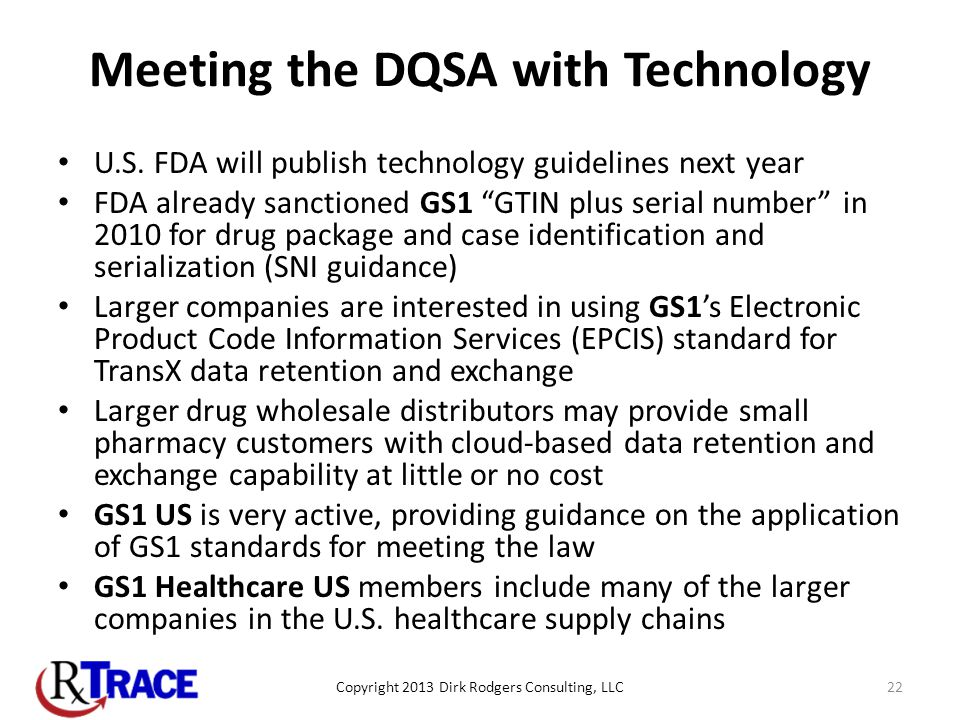 Meeting the DQSA with Technology U.S.
