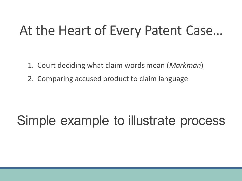 At the Heart of Every Patent Case… 1.Court deciding what claim words mean (Markman) 2.