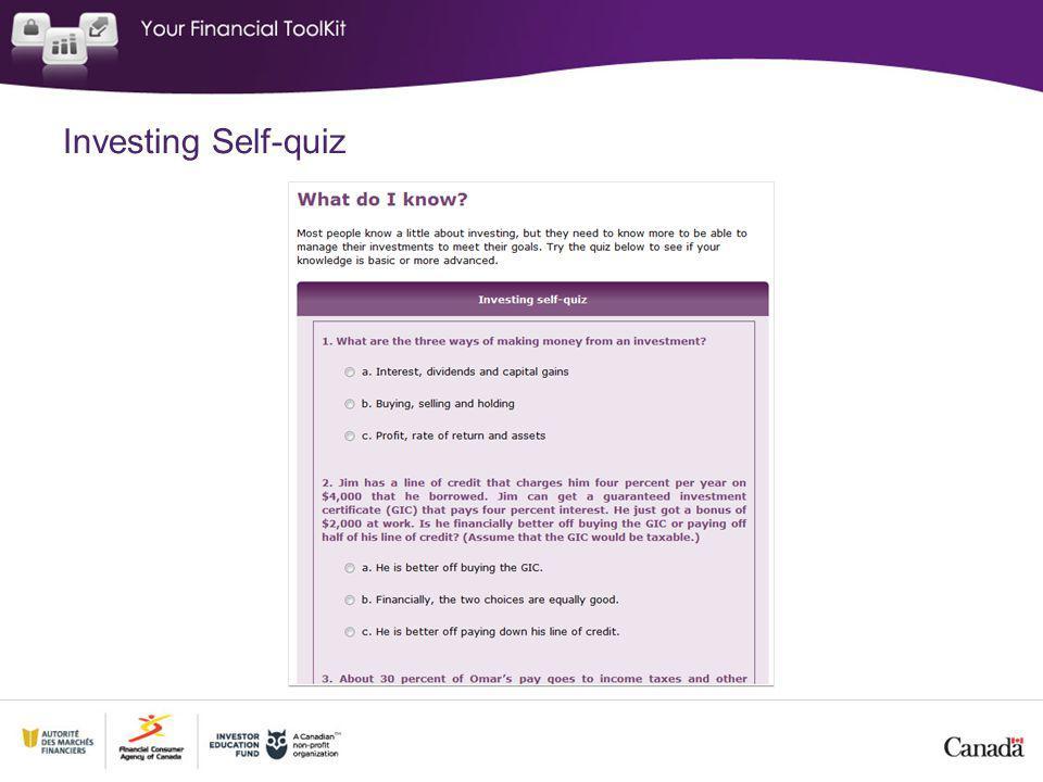 Investing Self-quiz