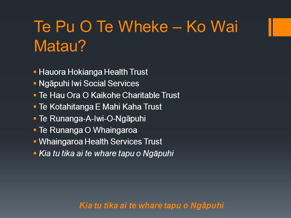 Te Pu O Te Wheke – Ko Wai Matau.