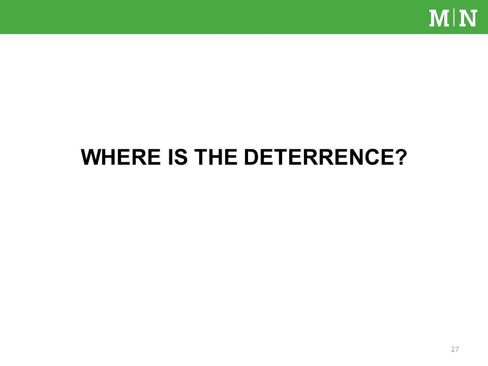 WHERE IS THE DETERRENCE? 27