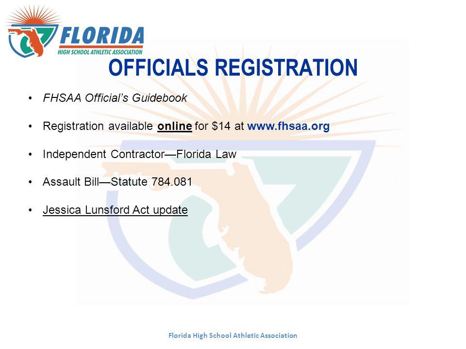 PUBLICATIONS WEBSITE www.fhsaa.org Manual Handbook Tournament locations Important dates