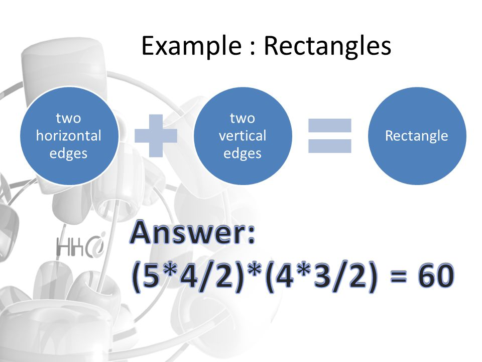 two horizontal edges two vertical edges Rectangle Example : Rectangles