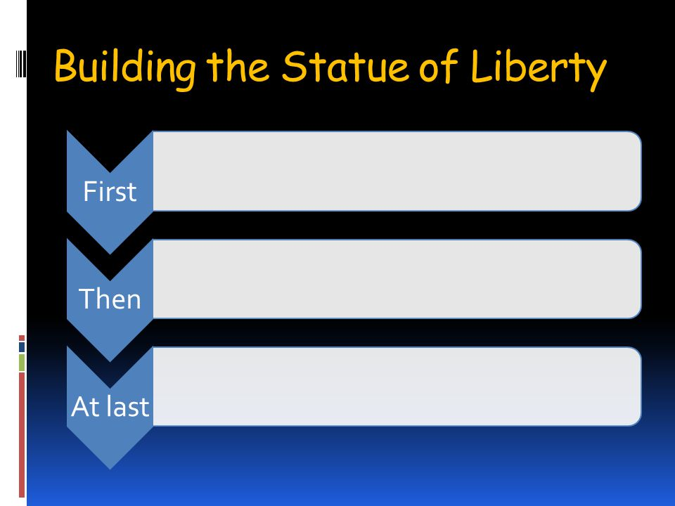 Building the Statue of Liberty FirstThenAt last