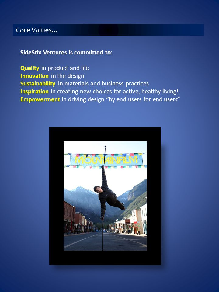 SideStix changed my life! ~ Sarah Doherty on the top of Mount McKinley For users by users...