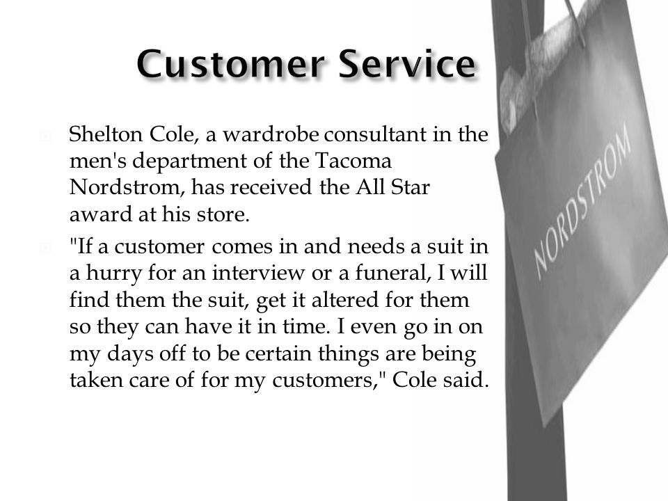 Customer Service - Nordstrom. About Us - Nordstrom.