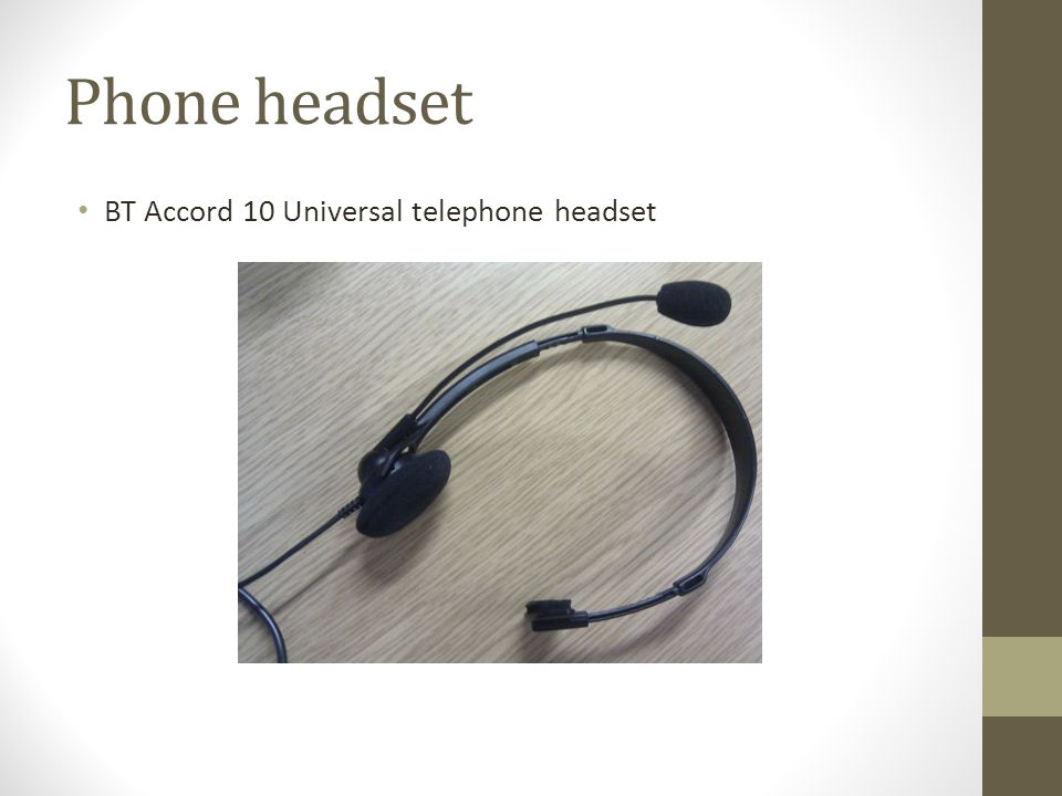 Phone headset BT Accord 10 Universal telephone headset