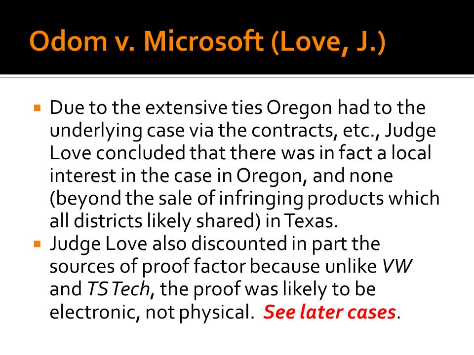 Due to the extensive ties Oregon had to the underlying case via the contracts, etc., Judge Love concluded that there was in fact a local interest in t