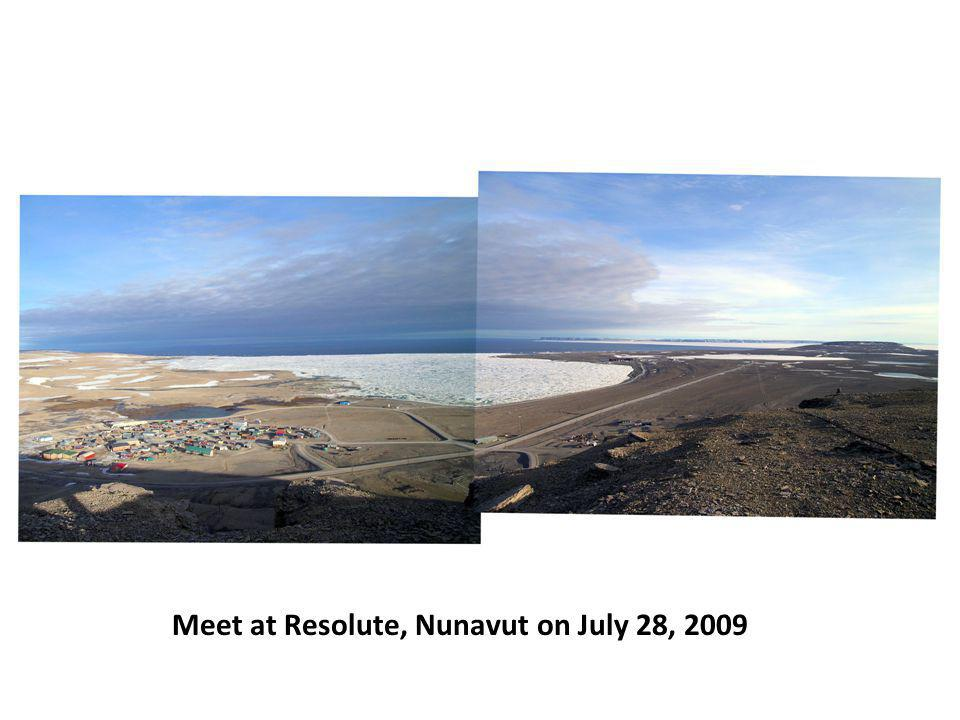 Meet at Resolute, Nunavut on July 28, 2009