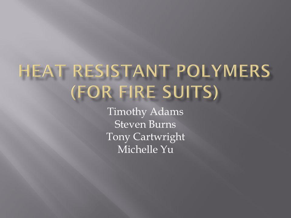 Timothy Adams Steven Burns Tony Cartwright Michelle Yu