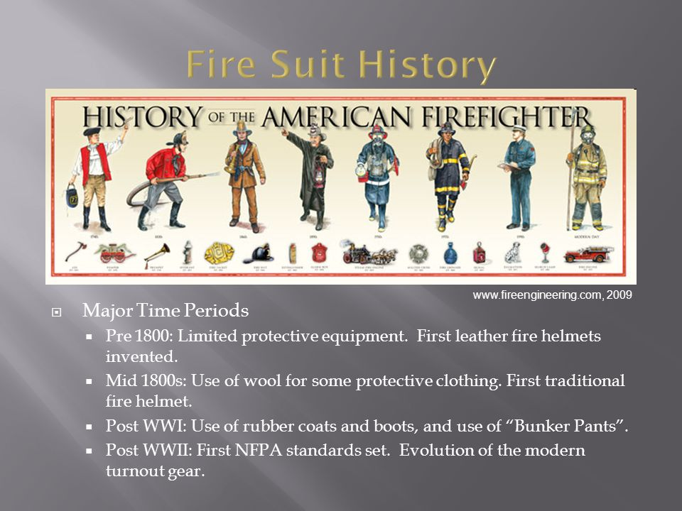 Major Time Periods Pre 1800: Limited protective equipment.