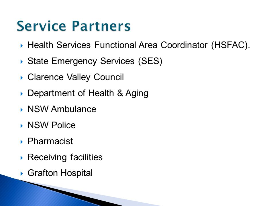 Health Services Functional Area Coordinator (HSFAC).