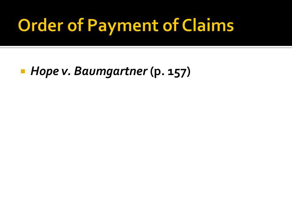 Hope v. Baumgartner (p. 157)
