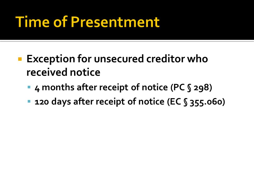 Types of Claims Mortgage Deed of trust Article 9 secured interest Creditor has choice of how to proceed.