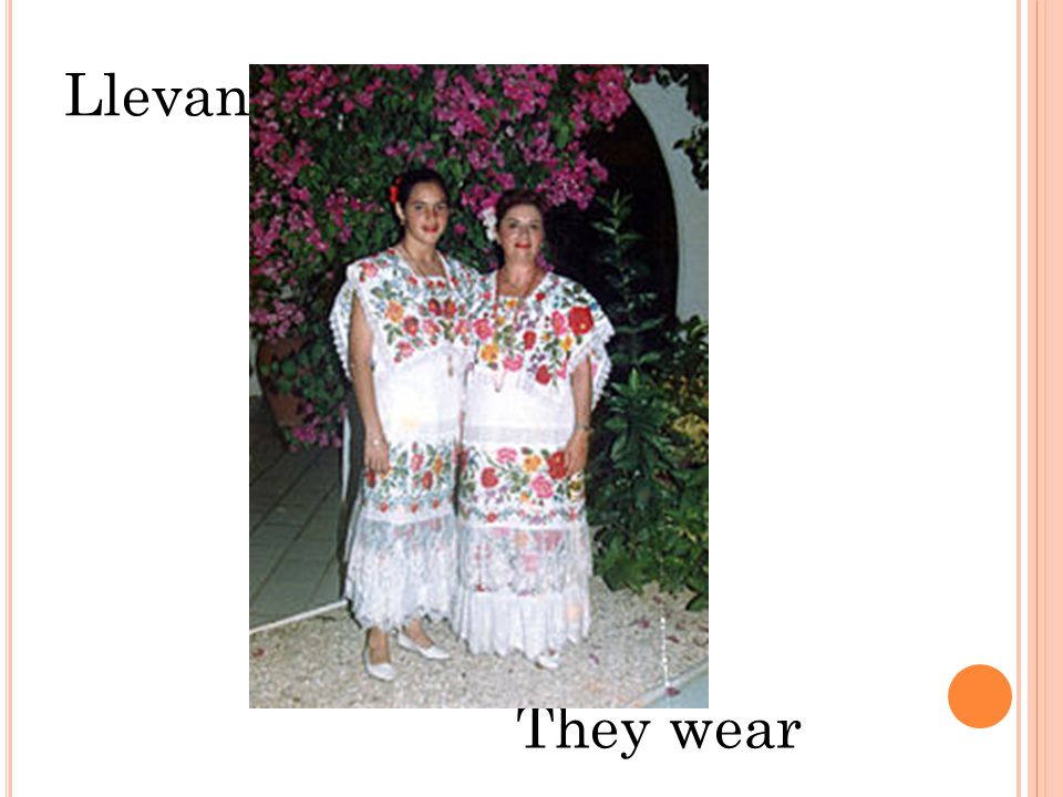 Llevan They wear