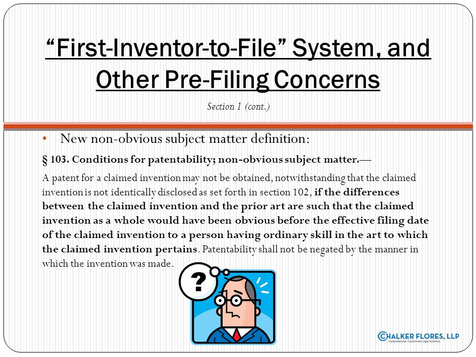 New Filing Fees Effective September 26, 2011 USPTO director has fee-setting authority, subject to review by Public Advisory Committee and Congress Increases many fees by as much as 15% on patents and trademarks Fee schedule available at www.uspto.gov/about/offices/cfo/finance/fees.jsp Electronic Filing Incentive Effective November 15, 2011 Essentially a penalty by adding an additional $400 ($200 for small entities) for each original patent not filed electronically Changes to Application Process, New Filing Programs Section 2