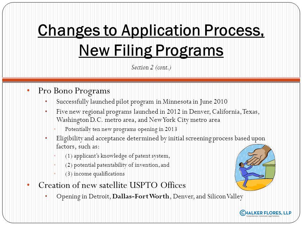 Pro Bono Programs Successfully launched pilot program in Minnesota in June 2010 Five new regional programs launched in 2012 in Denver, California, Tex