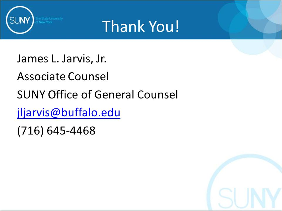 Thank You. James L. Jarvis, Jr.