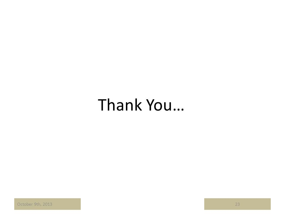 Thank You… 23October 9th, 2013
